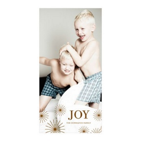 Photo Paper Radiant Christmas Stars Vertical -- Christmas Cards