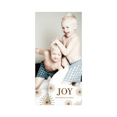Photo Paper Radiant Christmas Stars Vertical Photo Christmas Cards