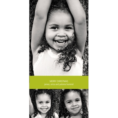 Vertical Photo Collage -- Holiday Photo Cards
