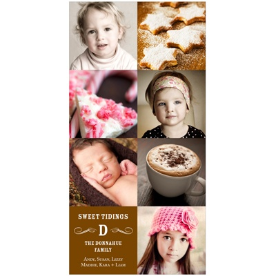 Vintage Modern Mix Vertical Holiday Photo Cards