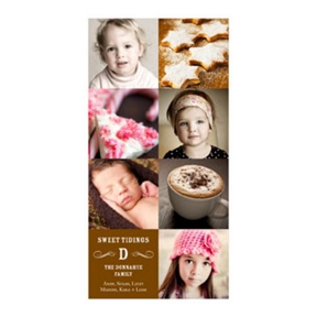 Photo Paper Vintage Modern Mix Vertical -- Christmas Cards