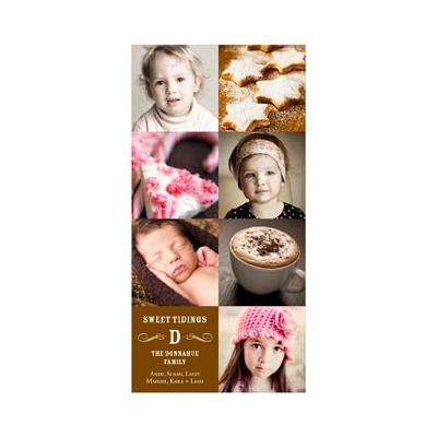 Photo Paper Vintage Modern Mix Vertical Photo Christmas Cards