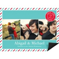 Tri photo Creative Save the Date Magnet