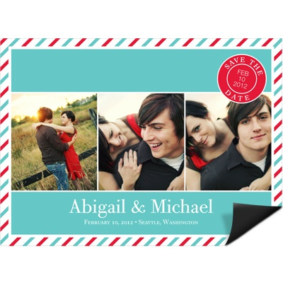 Tri photo -- Creative Save the Date Magnet