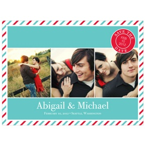 Tri photo -- Creative Save the Date