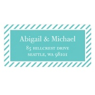Save the Stripes Save the Date Address Labels