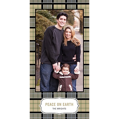 Pleasantly Plaid in Green -- Christmas Card