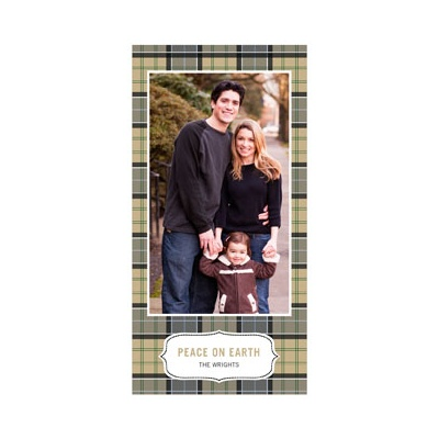 Pleasantly Plaid in Green -- Photo Christmas Cards