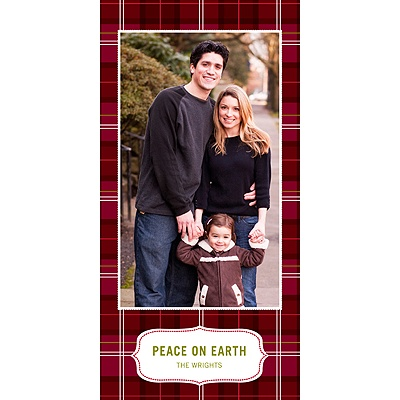 Pleasantly Plaid in Red -- Chirstmas Card