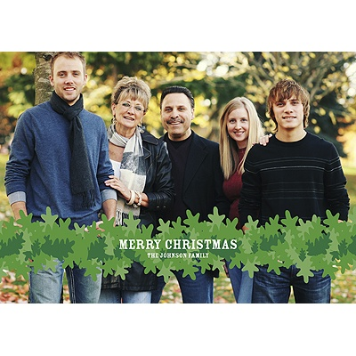 Wrapped in Garland -- Photo Christmas Card