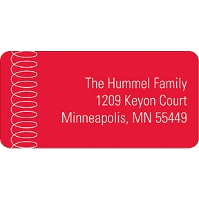 Swirling Down in Red -- Christmas Address Labels