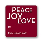 Peace, Love, Joy -- Christmas Gift Stickers