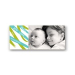 Ribbon Swirls --  Photo Christmas Cards