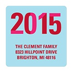 Slice of the New Year -- Blue Christmas Address Label