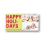 Bold Holiday Lettering in Green -- Photo Christmas Cards