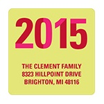 Slice of the New Year -- Green Christmas Address Label