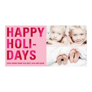 Bold Holiday Lettering in Pink