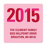 Slice of the New Year -- Pink Christmas Address Label