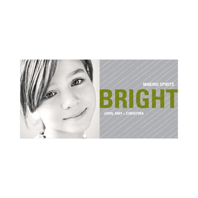 Bright Holiday -- Green Photo Christmas Cards