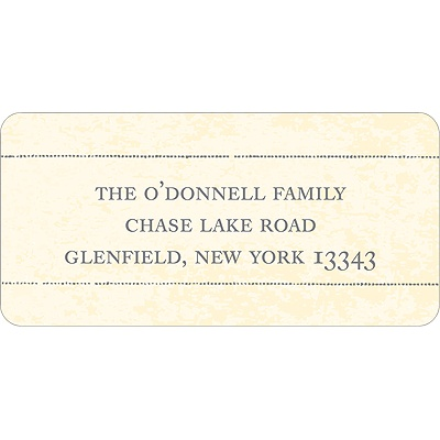 Antique Finish -- Christmas Address Label