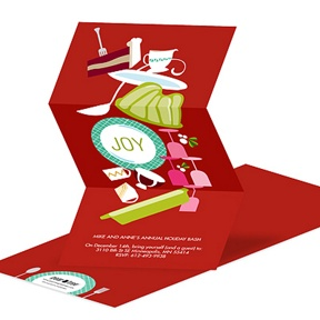 Icons of Joy In Red -- Holiday Party Invitations