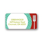 Time for Dinner! -- Red Christmas Address Label