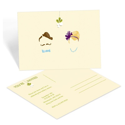 Masked Mistletoe - Christmas Party Invitation