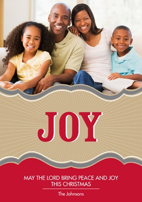 Radiant Joy -- Photo Christmas Card