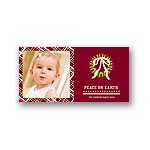 Peace on Earth in Plaid -- Christmas Photo Card