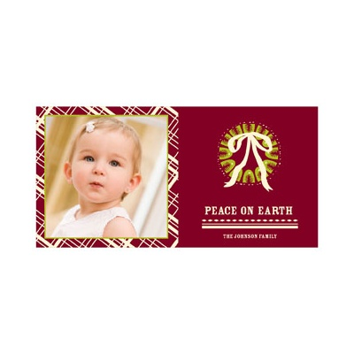 Peace on Earth in Plaid -- Photo Christmas Cards