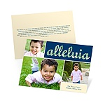 Alleluia and Praises -- Photo Religious Christmas Cards