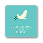 Delivering Dove -- Christmas Gift Stickers