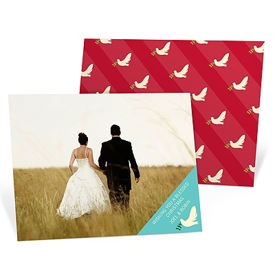 Peaceful Doves -- Modern Christmas Cards