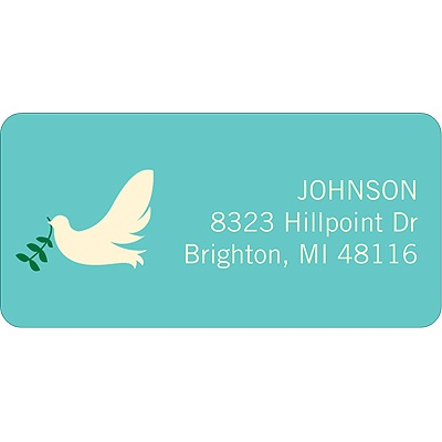 Delivering Dove Christmas Address Labels