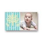 Chic Stripes in Blue -- Photo Christmas Card