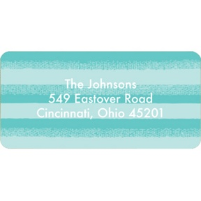 Flowing Stripes in Blue -- Christmas Address Labels