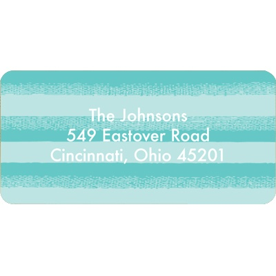 Flowing Stripes in Blue Christmas Address Labels