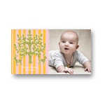 Chic Stripes in Pink, Orange -- Photo Christmas Card