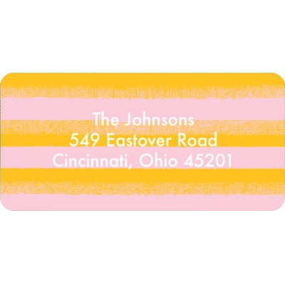 Flowing Stripes in Orange -- Christmas Address Label