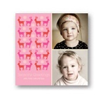Gathering Deer in Pink -- Photo Christmas Card