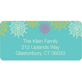 Frosted Snowflakes in Blue -- Christmas Address Labels