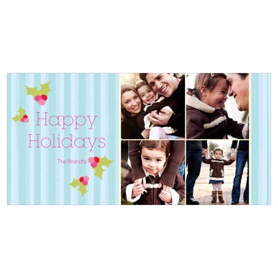 Cheerful Holly -- Holiday Photo Cards