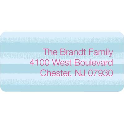 Disintegrating Stripes Christmas Address Labels