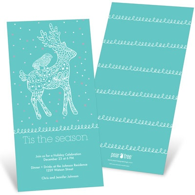 Decked Out Reindeer Holiday Party Invitations