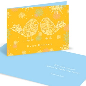 Love Birds -- Christmas Cards