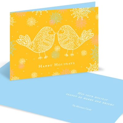 Love Birds Christmas Cards