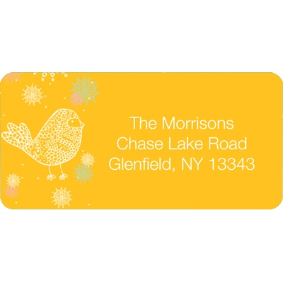 Chic Chickadee Christmas Address Labels