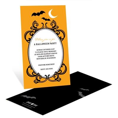 Halloween Night Scene Halloween Party Invitation