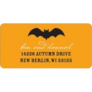 Bat Scare Halloween Address Label
