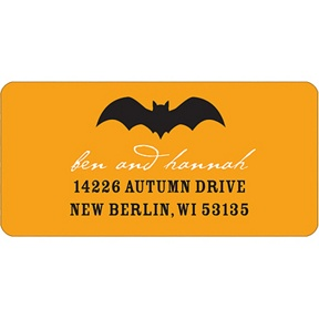 Bat Scare -- Halloween Address Label